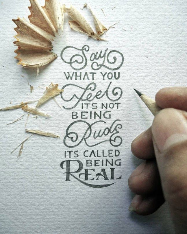 Hand lettered quote by Dexa Muamar