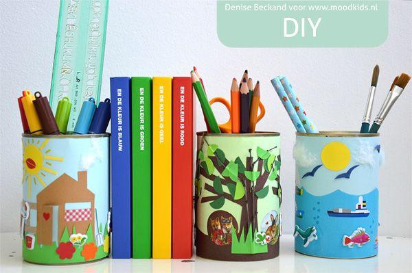 DIY blik : je bureau opruimen een DIY met conservenblik