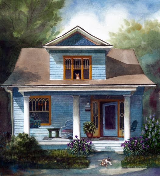 house watercolors - Google Search