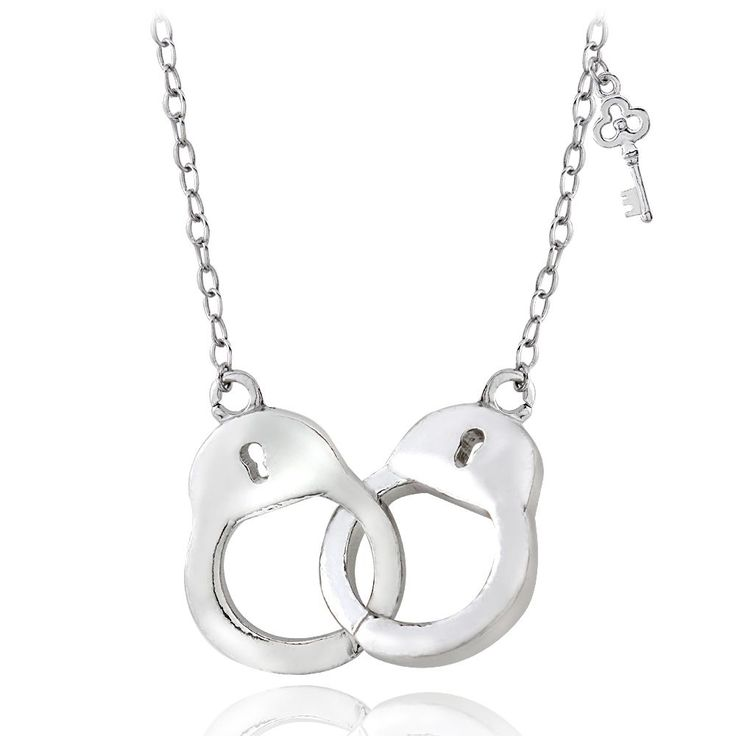 Mondevio Sterling Silver or Gold Over Silver Handcuff Necklace | Overstock.com Shopping - The Best Deals on Sterling Silver Necklaces