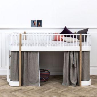 Oliver Furniture Halbhohes Hochbett WOOD COLLECTION, 90x200cm, Höhe: 128cm