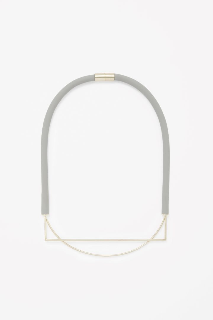 Rubber and metal necklace - COS