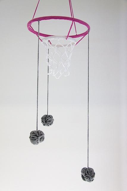crochet netball mobile   #crochetgeekery