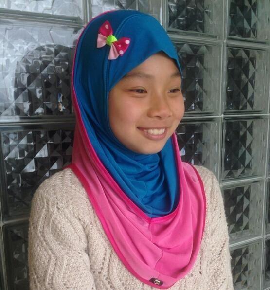>> Click to Buy << girl hijab kawaii fancy kid scarf wrap soft cute girl khaleeji hijab  free ship #Affiliate