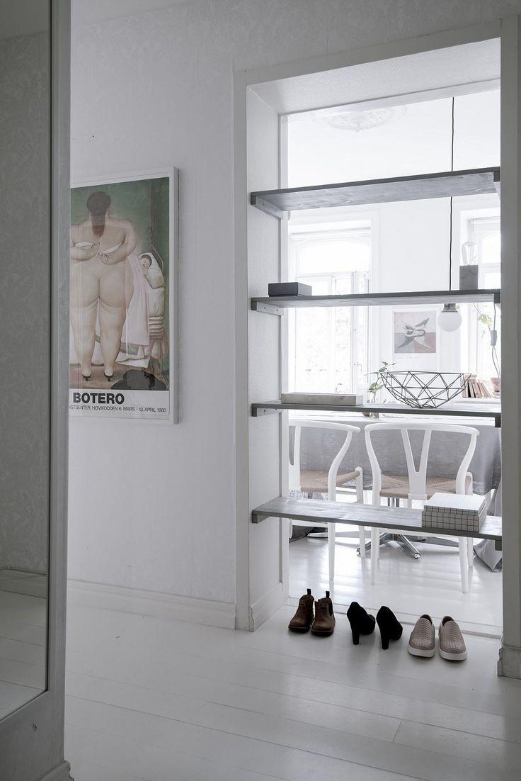 shelves put inside the doorway