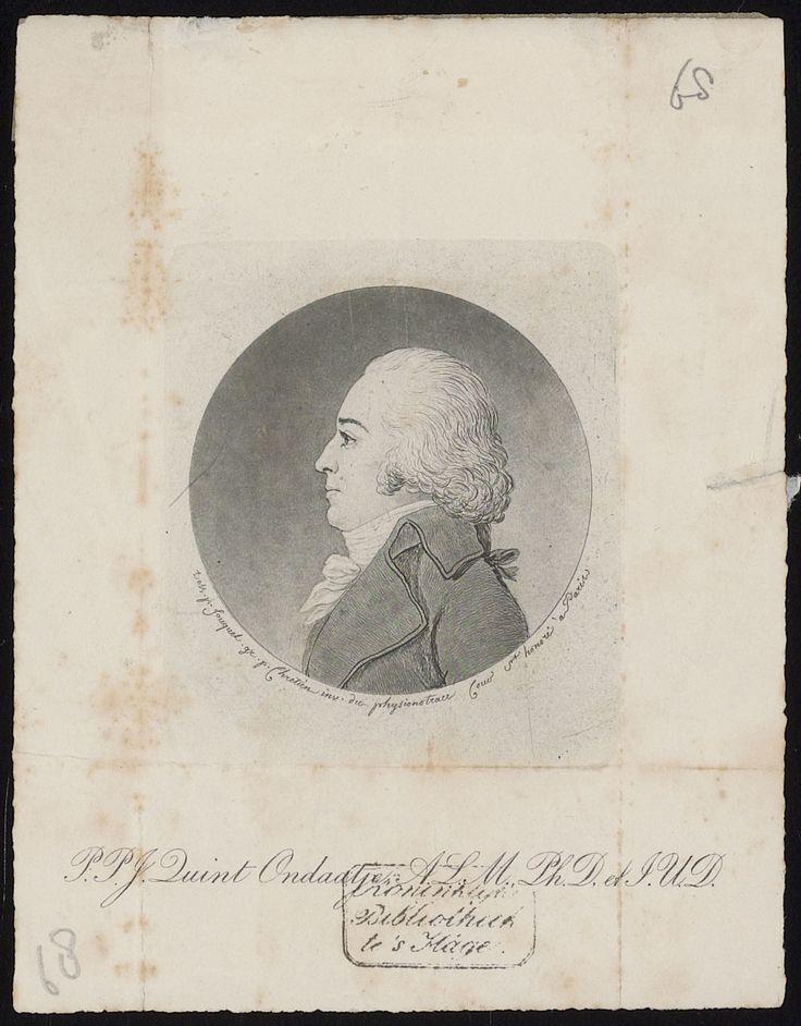Pieter Ondaatje, vooraanstaand Utrechts patriot, schoonzoon van Utrechts Notaris-Procureur Adrianus Hoevenaar