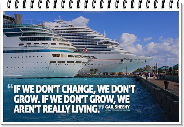 If we don't change, we don't grow, then we aren't really living...