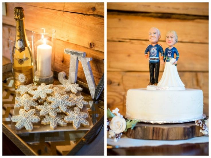 Hockey Rivals cake topper | Photo by Kim Payant Photography