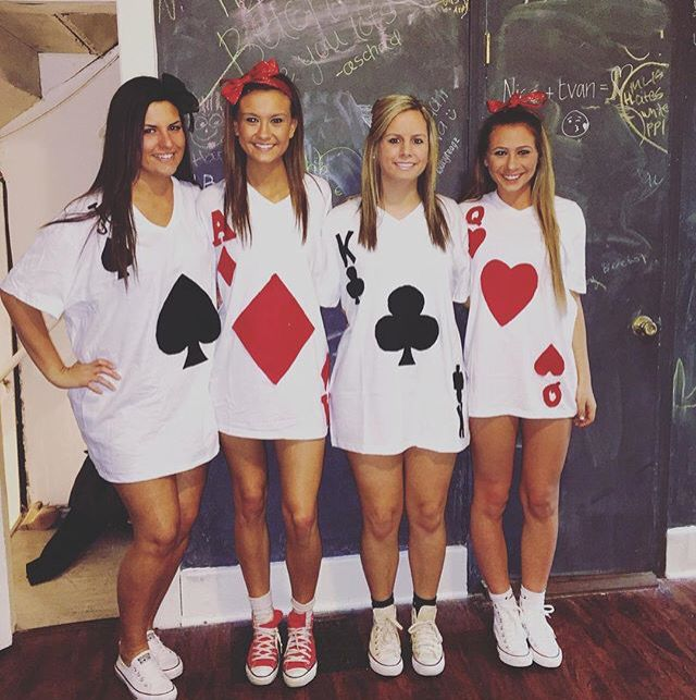 deck of cards group halloween costumesgroup - 3 Girl Costumes Halloween