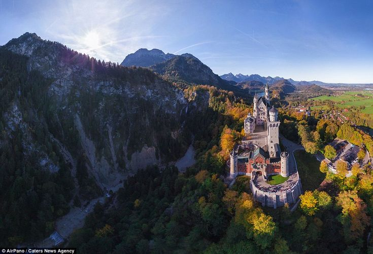 Looking like something out of a fairy tale is Neuschwanstein Castle in Germany, captured i...