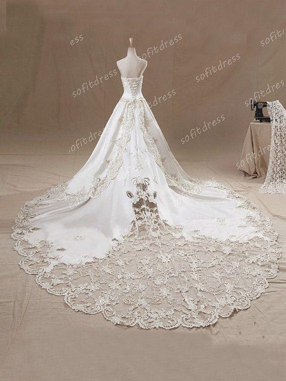 lace wedding dresses princess wedding dress ivory by sofitdress