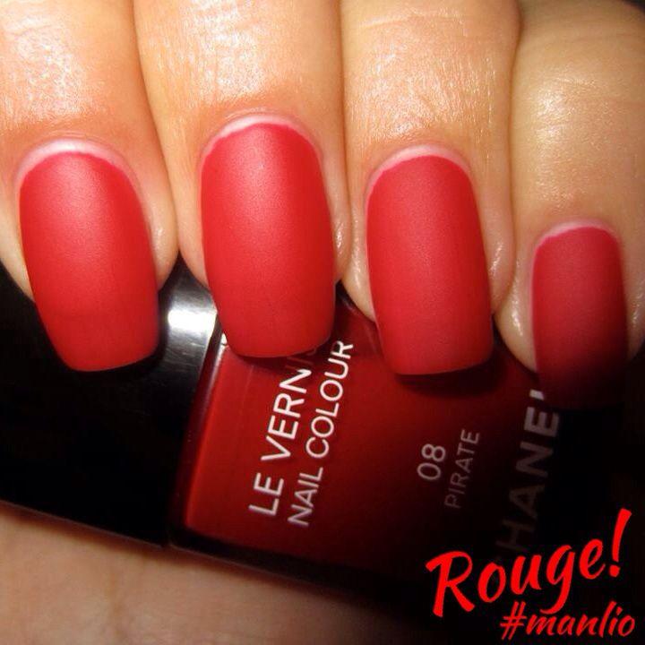 Rouge... Pirate‼️ Smalto Chanel #manlio #nails #nail #fashion #style #cute #beauty #girl #girls #stylish #styles #nailart #art #opi #photooftheday #essie #unhas #preto #branco #rosa #love #shiny #polish #nailpolish #nailswag