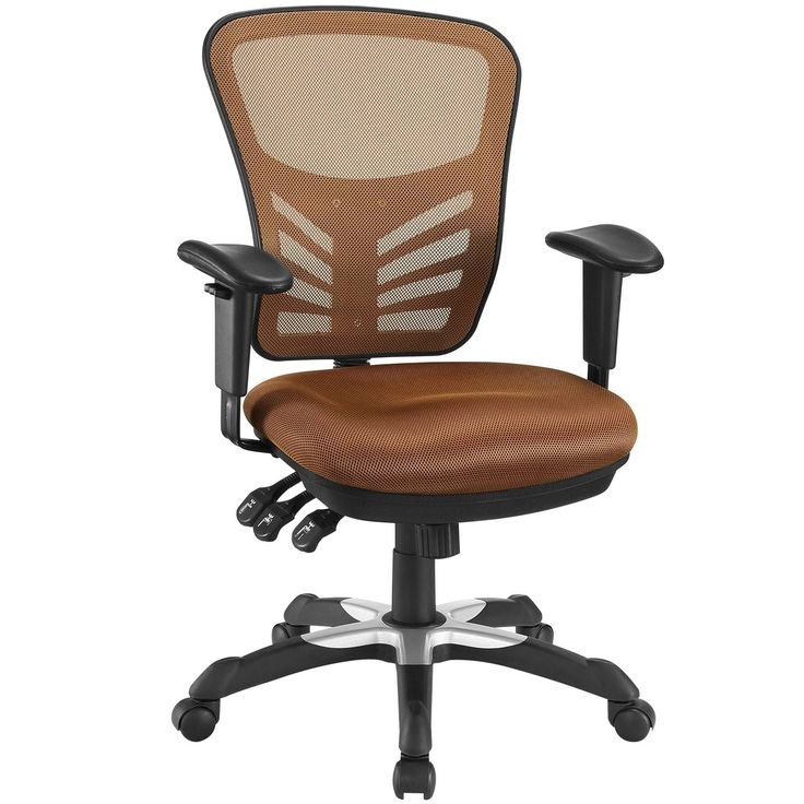 Articulate Mesh Office Chair in Tan
