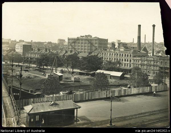 Belmore park, construction of the Sydney underground railway, 19 April 1917