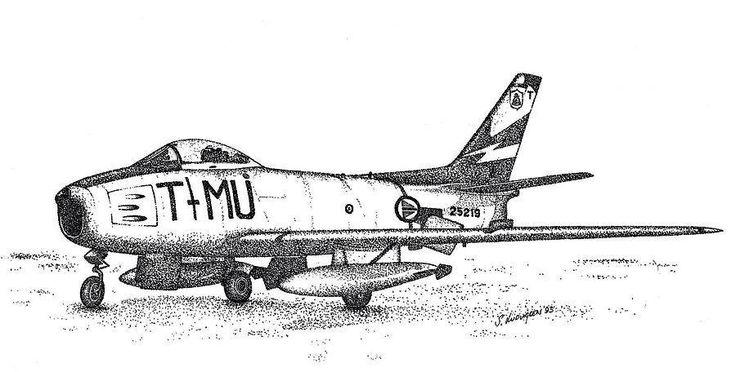 Pointillism RNoAF F-86 338 sqn.