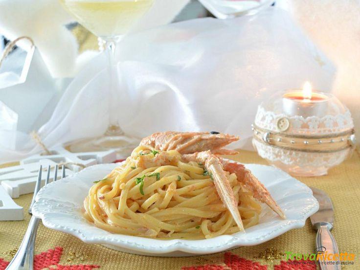 Linguine con crema di scampi al prosecco  #ricette #food #recipes