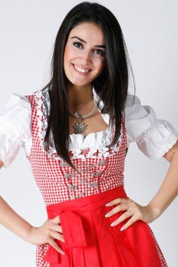 3tlg. Dirndl Set rot kariert Oktoberfest mit Bluse und Schuerze. Sexy #minidirndl Jetzt online bestellen! @dirndloutlet
