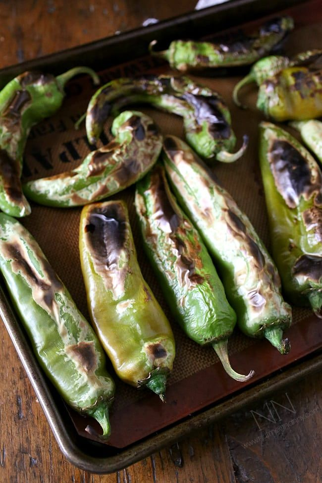 This is your guide on how to roast hatch green chiles right in your kitchen. They turn out perfectly roasted and can be used fresh or frozen.