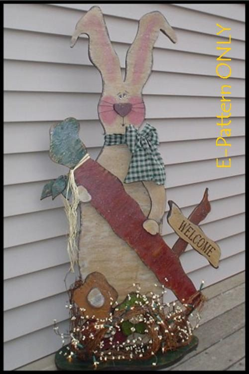 Bonnie Bunny EPATTERN ONLY by WoodPatterns on Etsy, $5.00