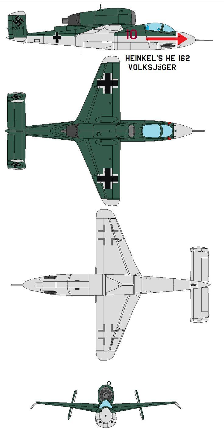 Heinkel's He 162 Volksjager by bagera3005 on DeviantArt