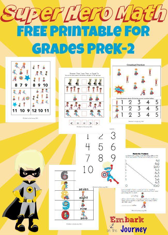 Free Super Hero Math Printable Super Hero Theme Sons
