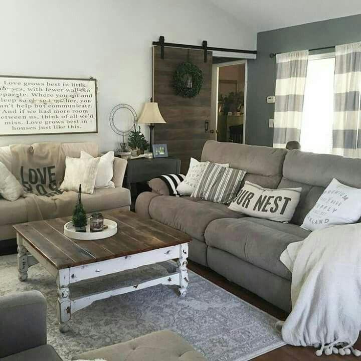 Living room Decor Ideas | Modern farmhouse living room decor ...
