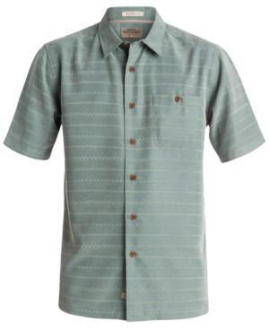 Quiksilver Waterman Men's Geometric Striped Shirt -