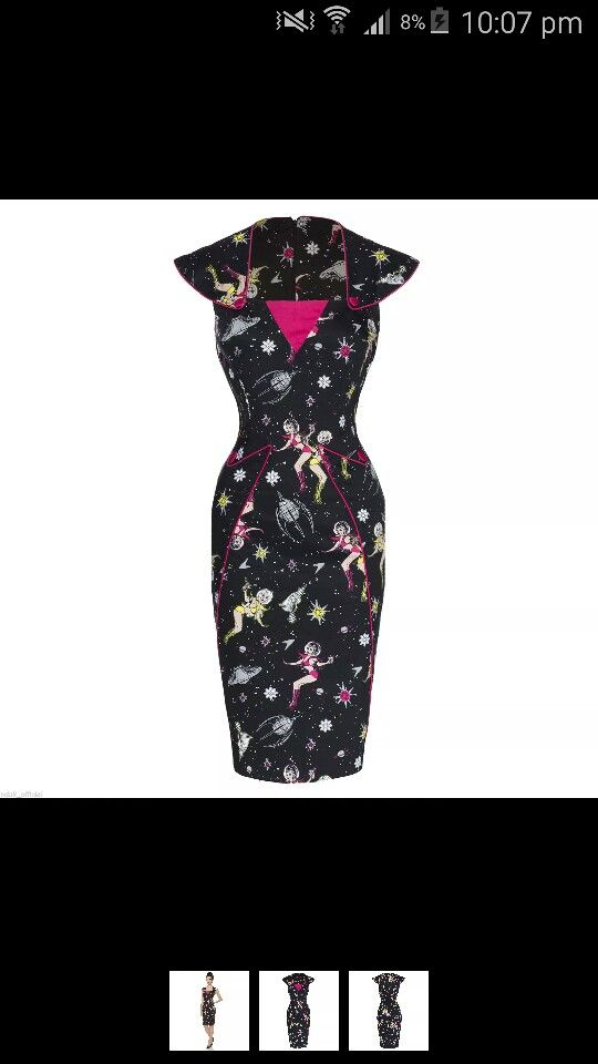 Voodoo vixen, space girl pin up, wiggle dress from eBay