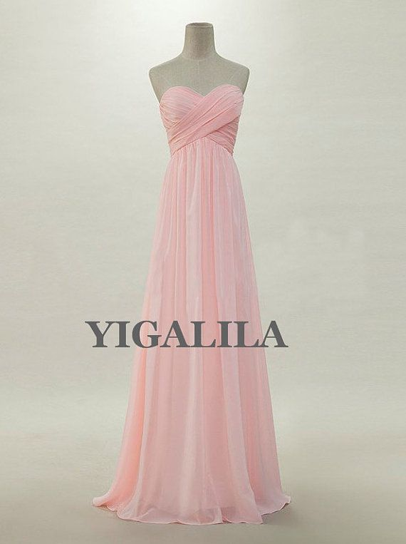 Lady dress/Custom Blush pink Sweetheart Floor-length Chiffon Long Prom/Evening/Party/Homecoming/Bridesmaid/Formal Dress 2013 New Arrival