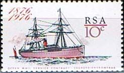 South Africa 1976 Ocean Mail Service Fine Mint SG 409 Scott 470 Other South African Stamps HERE