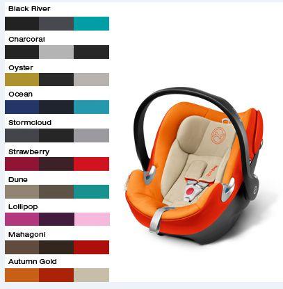 Neue Farben für die Kollektion 2014 › CYBEX Blog - Deutsch #cybex #babyschale #aton #kidscomfort