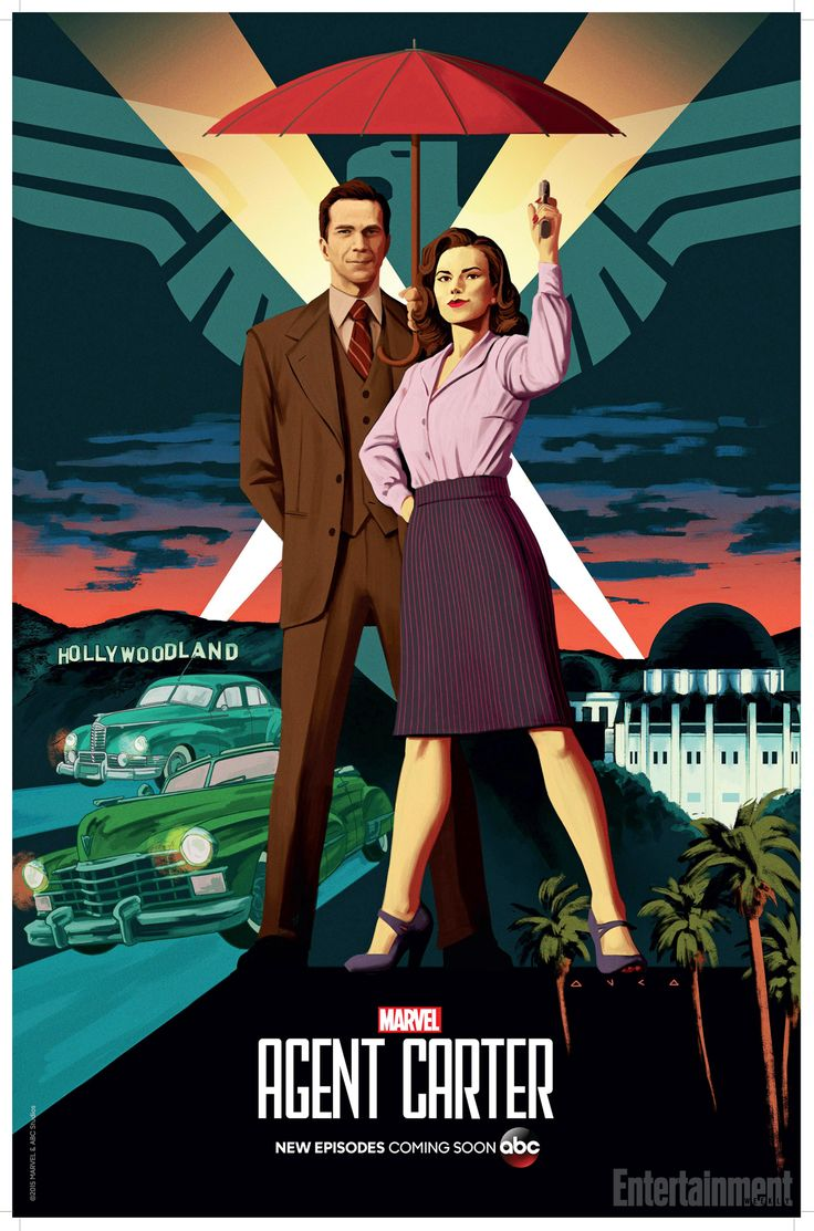 '#AgentCarter' first look: Peggy lands in Hollywood in Comic-Con poster | EW.com