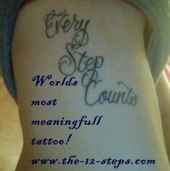 Recovery Tattoos Galleries, 12 Step Tattoo and AA / NA Ink - The 12 Steps; Illustrated Spiritual Fun for 12 Step Program members. AA, NA, Al Anon