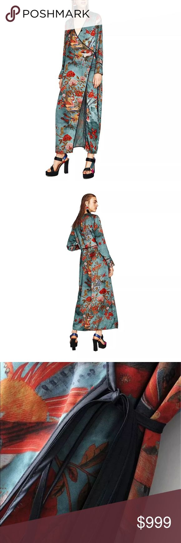 Coming Soon! Zara Sky Blue Floral Maxi Kimono Coming Soon! Zara Sky Blue Floral Maxi Kimono/ Duster • Sold out everywhere • Like this listing to be notified upon arrival. Fall 2017 Trends Zara Jackets & Coats