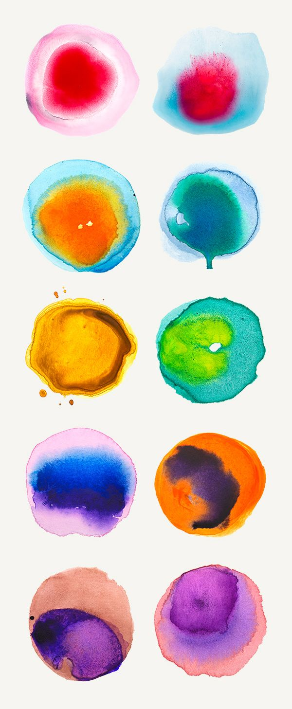 Treat yourself to a new collection of hand painted watercolor textures in vivid tones and use them freely in your...