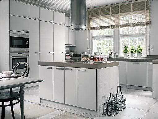 Typical Finnish Kitchen - very minimal, very white, and highly functional