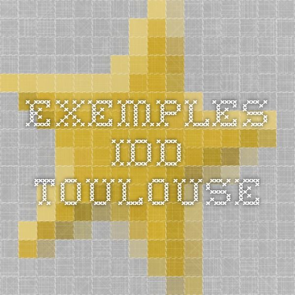 Exemples IDD Toulouse