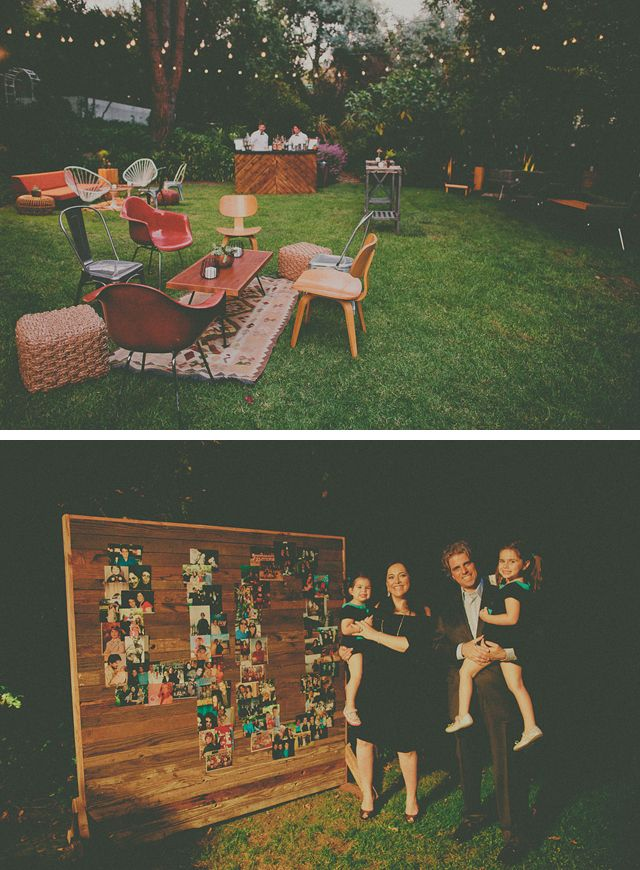 bash, please: Mismatched furniture and rugs for outdoor party