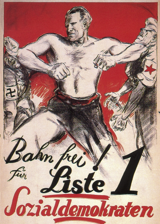 """Clear the Way for List 1 Social Democrats,"" Germany, 1930"