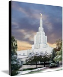 Idaho Falls Temple Art Prints by Terry Springer - Shop Canvas and Framed Wall Art Prints at Imagekind.com