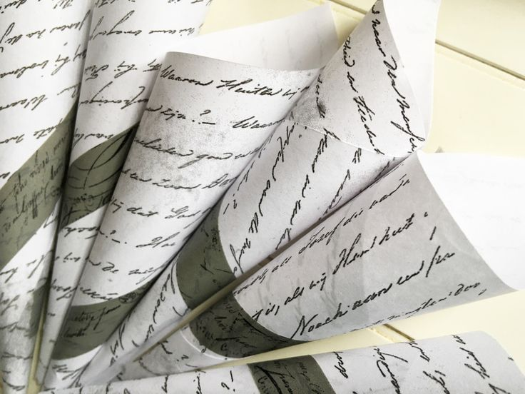 10 Paper Cones Wedding Favor Pew Marker Flower Bouquet Holder Treat Bags ~ Faded Black Script on Aged Paper Petal or Confetti Tosser Cone by TheGlockyCoggler on Etsy https://www.etsy.com/listing/292257281/10-paper-cones-wedding-favor-pew-marker