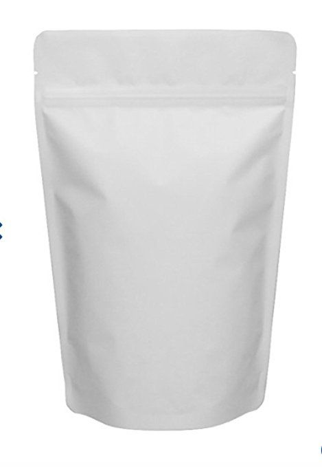Matte White 5 X 7 ¾ Stand Up Air Smell Proof Zipper Pouch Bags For Herb Coffee Powder Medicine Multipurpose Storage 4 Oz 100 Review
