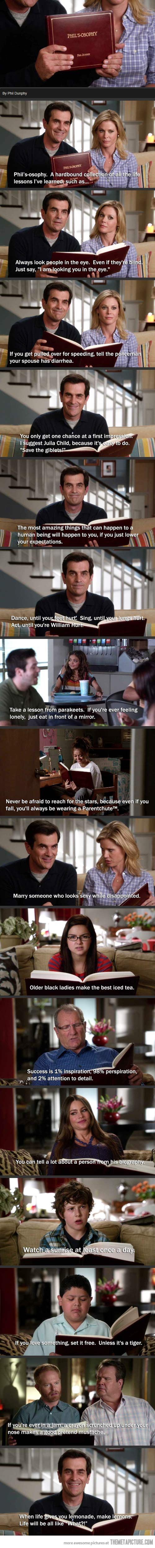Phil's-osophy! One of my favorite Modern Family episodes by far! hahaha, I love Phil