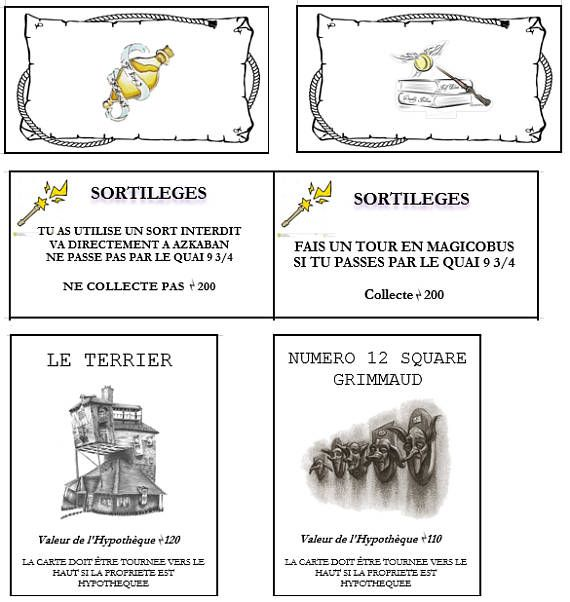 Hi everyone, I created files to print your own cards/bills for a Harry Potter Monopoly. I translated everything in english, so once you buy it, you just have to download files in Word/Excel format and print it. I also give some links to show you which items I bought for the game :)  Files