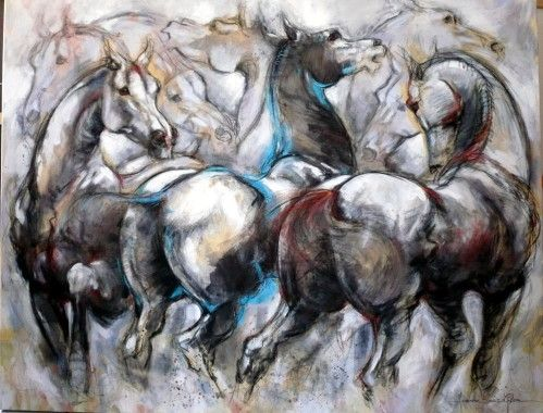Jeanne saint ch ron artiste peintre biographie l artiste for Biographie artiste peintre