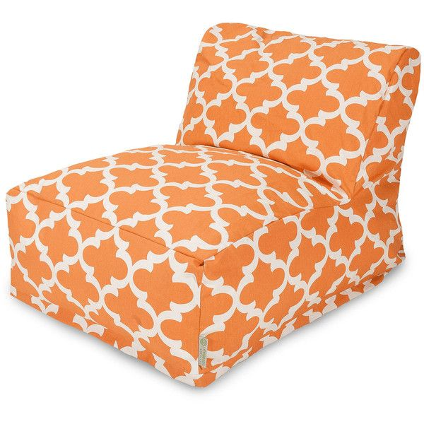 Dot & Bo Lattice Bean Bag Chair Lounger - Peach (€105) ❤ liked on Polyvore featuring home, furniture, chairs, beanbag furniture, bean-bag chair, 1960s furniture, 60s furniture and bean bag