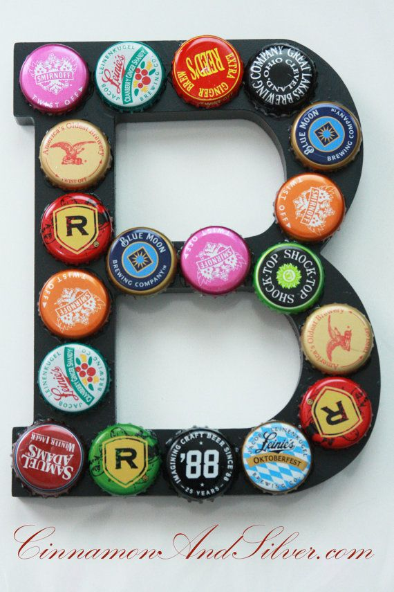 B is for Beer Upcycled Beer Bottle Cap and by CinnamonandSilver