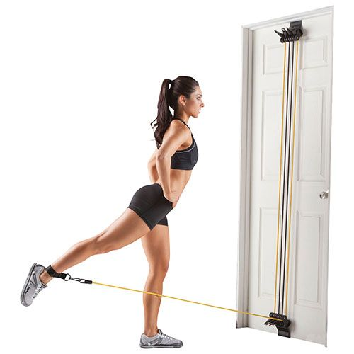 Get a total-body workout in minutes with the Gold's Gym door gym. It hangs from most standard doors and includes multiple resistance bungees, hand straps, and ankle straps so you can add definition to your arms, chest, back, shoul... Free shipping on orders over $35.