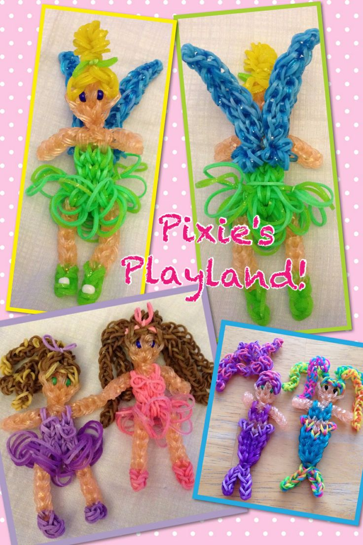 Rainbow Loom Creations By Pixie's Playland!