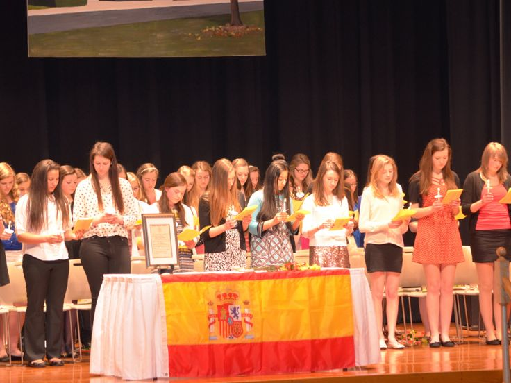 French and Spanish National Honor Societies Hold Induction Ceremony at Mercy High School